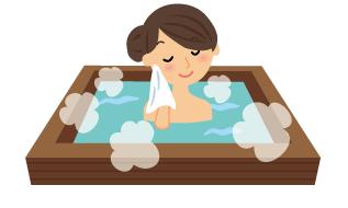 日本酒風呂のイラスト